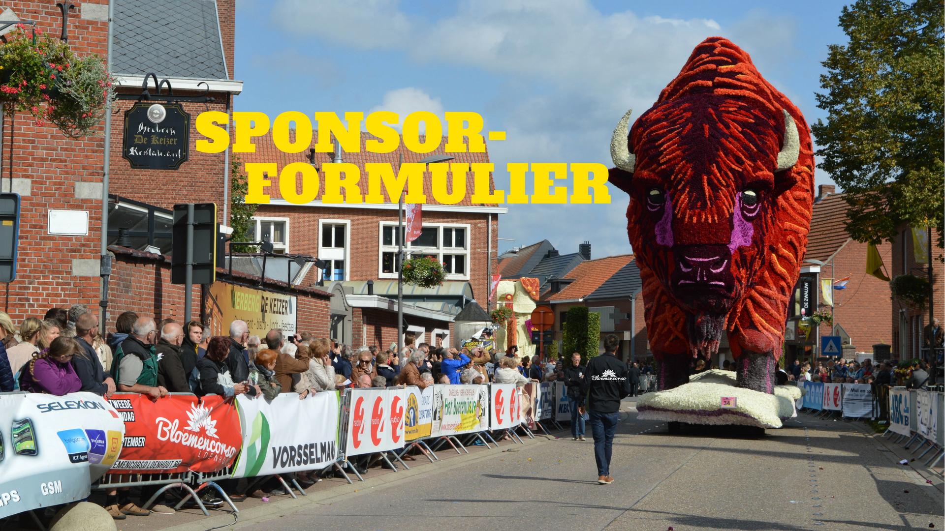 sponsorformules Bloemencorso Loenhout 2018