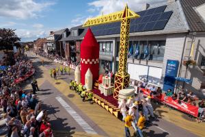 Bloemenwagen KLJ Bloemencorso Loenhout 2019